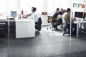 Business people together in office