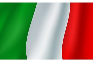 Flag of Italy 3d background
