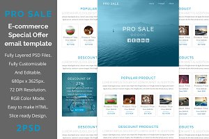 Pro sale E-commerce email template