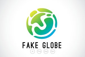 Fake Globe Logo Template