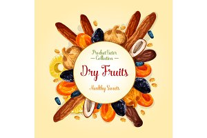 Dried fruits for healthy snack food design
