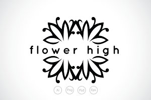 Flower High Logo Template