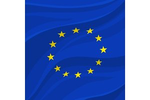 European Union flag or banner of Europe