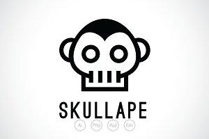 Skull Ape Logo Template