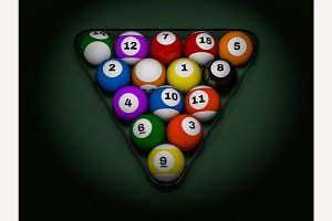 Pool billiard balls