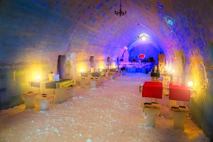 Ice hotel and restaurant