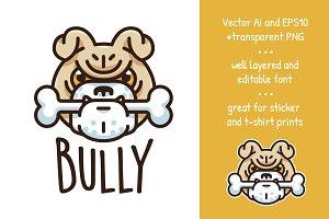 Bully - Funny Dog Logo