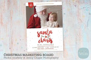 IC042 Santa Claus Marketing Board