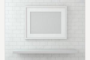 Blank poster, mockup.
