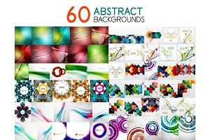 Collection of digital creative abstract backgrounds