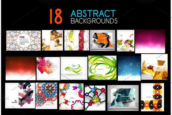 Mega Collection Of Geometric Abstract Backgrounds