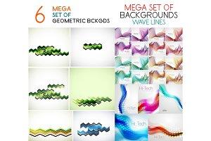 Wave line poster design