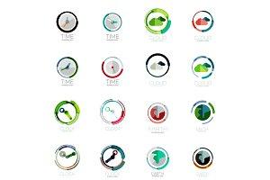 Vector set of circle icons