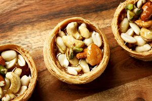 Nuts with honey, dessert