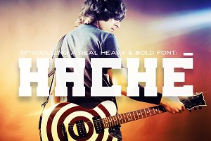 Hache - Strong Font