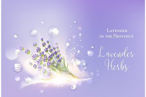 Lavender cosmetic label.