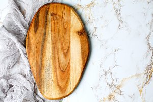Wooden empty chopping board