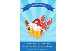 New Beer Festival 2017 on Vector Illustration
