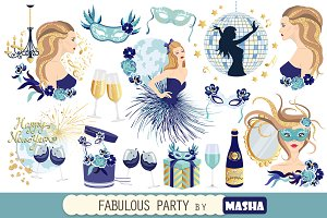 FABULOUS PARTY clipart