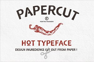 Papercut Regular Typeface | 50%OFF
