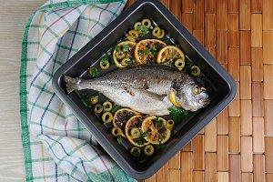 Baked Fish (Dorado)