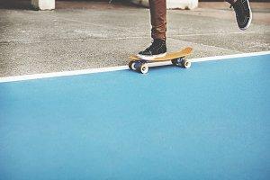 Man skateboarding outdoor