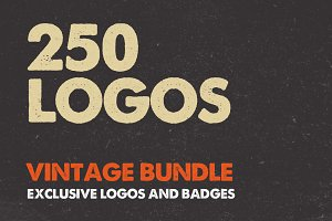 250 Vintage Logos Labels and Badges