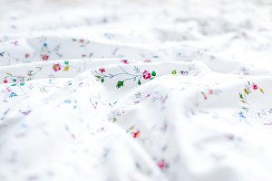 White bed sheets background