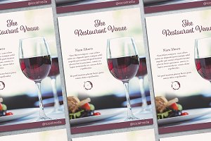 Fancy Restaurant Flyer Mockup