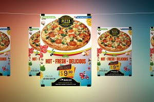 Restaurant Pizza Food-Flyer-A4