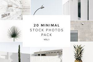 20 Stock Photo Minimal Pack vol.1