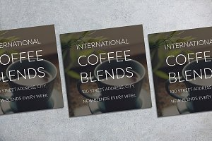 Coffee Blends Flyer Mockup