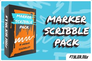Marker Scribble Vector Pack |50% OFF