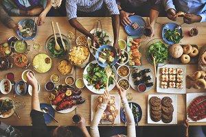 Brunch Dining Food Eating Concept