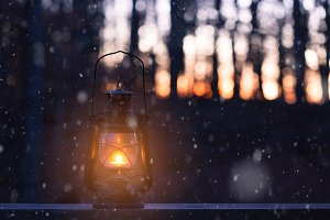 Light under the snow