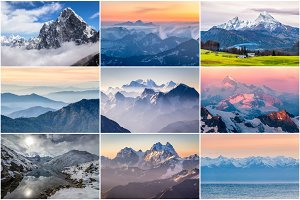 Mountain Photo Bundle. 9 Pictures.
