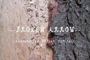 Broken Arrow Typeface + Freebie