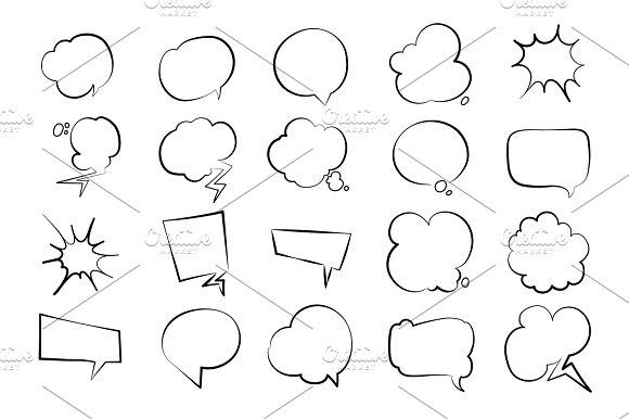 Empty Speech Bubbles Set