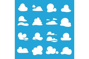 vector clouds shapes