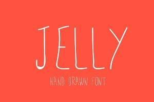 Jelly - Hand drawn Font