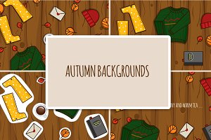 Autumn illustrations and elements