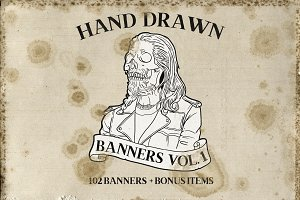 Hand Drawn Banners Vol. 1
