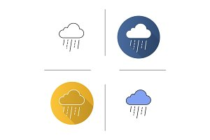Rainy cloud icon