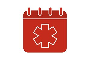 World Ambulance Day glyph color icon