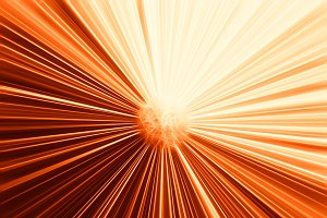 Orange particle blast illustration background