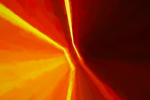 Diagonal doorway orange light leaks illustration background