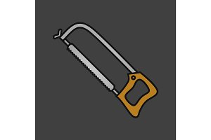Hacksaw color icon