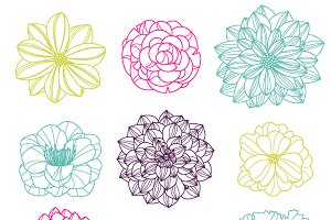 Flower Silhouettes PS Brushes - No 3
