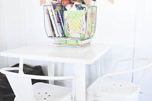 Kids Table Stock Photo