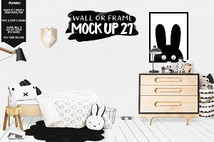 Kids Room Wall/Frame Mock Up 27
